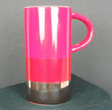 2014 Starbucks Hot Chocolate Mug 8 fl oz Red and Silver - $9.25