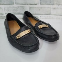 COACH Womens 8 Black Olive Driven Moc Slip On Loafer Pebble Leather AS IS - $28.04