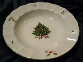 Studio Nova Holiday Season NY102 Large Rim  BOWL Christmas Tree Holly Set 3 - $16.99