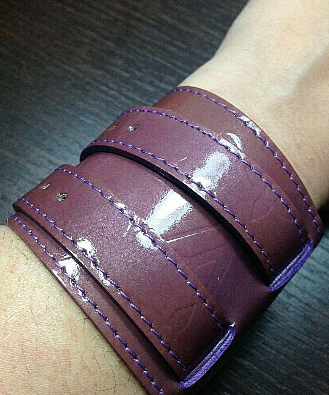 Louis Vuitton Charlton Vernis Wrap Cuff Statement Bracelet - $490.05