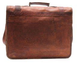 Men's Leather Messenger Shoulder Briefcase Bag For Business Work Office Use image 5