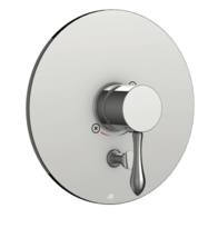Aquabrass R420099PC Round Pressure Balance Trim w Roma Handle Polished C... - $85.45