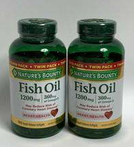 2 Pack Nature's Bounty Fish Oil 1200mg, 360mg Omega-3, 180 Softgels - $47.97