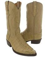 Mens Crocodile Tail Boots Genuine Western Leather Tan Cowboy Botas J Toe - $229.99