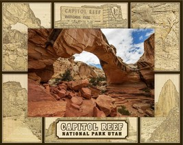 Capitol Reef National Park Utah Laser Engraved Wood Picture Frame (5 x 7) - $29.46