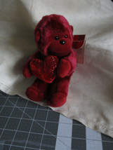 Russ Berrie Red Monkey Love Valentine Heart Huggers Plush Doll Soft Toy ... - $18.61