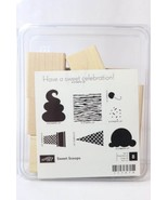 Stampin Up Sweet Scoops Ice Cream Cone Set of 8 Rubber Ink Stamp Wood Mo... - $12.86