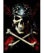Anne Stokes Poster Flag Pirate Skull - $12.99