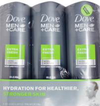 Dove Men+Care Body and Face Wash, Extra Fresh 18 oz/3 Pk - New & Open Pa... - $22.26