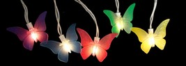 Sienna Set of 10 Butterfly Summer Garden Patio Christmas Lights - White ... - €15,12 EUR