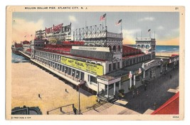 NJ Atlantic City Million Dollar Pier Amusements Vintage Tichnor Linen Po... - $4.99