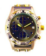 Seiko Pulsar Mans Sport Chronograph, Gray Dial Rare 2Tone Gold/Silver Wa... - $196.86