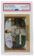 Frank Sullivan Signed 1955 Bowman #15 Boston Red Sox Baseball Card PSA/DNA - $75.65