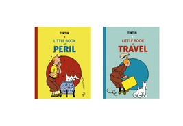Tintin Little book of Peril and Little book of Travel set of 2 books