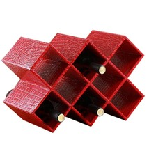 Red Wine Rack Holder Stand Home Europe    red crocodile pattern 8 lattice - £56.78 GBP