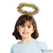 Gold Tinsel Halo Headbands - $10.24