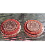 Vintage Signed Coro Pakistan Coins Clip On Earrings RARE FIND! - $19.00