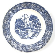 "Blue & White Homer Laughlin J-82 7 1/8"" Bread Plate Shakespeare Country - $9.89"