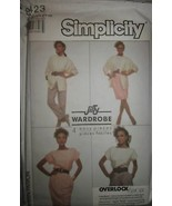 8423 VINTAGE Simplicity Sewing Pattern Shirt Pants Top Jacket - $4.83
