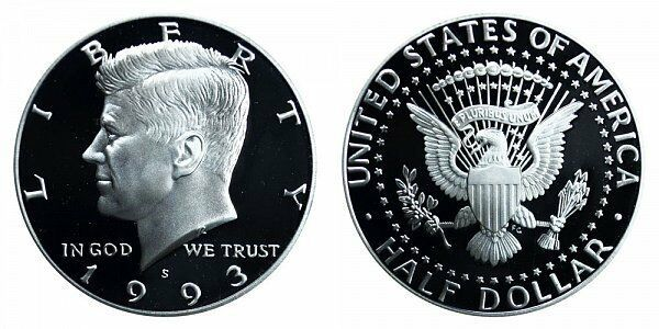1993 S Uncirculated Kennedy Half Dollar CP2032
