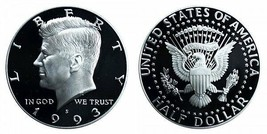 1993 S Uncirculated Kennedy Half Dollar CP2032 - $4.75