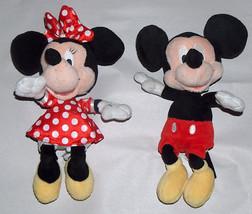 Disney Almacén Minnie & Mickey Mouse 25.4cm con Relleno Peluche Tambalea... - $18.38