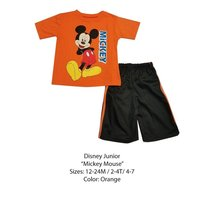 DISNEY KIDS SET (18 MONTHS, ORANGE MICKEY) - $8.81