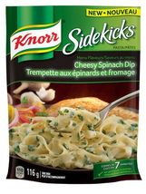 Knorr Sidekicks Cheesy Spinach Dip Pasta 12 x 116g packages Canadian  - $59.99