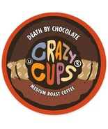 Crazy Cups Death By Chocolate Coffee 22 to 88 Keurig K cups Pick Any Size - $24.99+
