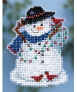 Snow Fun Winter Holiday 2014 Seasonal ornament pin kit cross stitch Mill... - $6.30