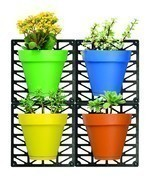 Easy Install Colorful Room Decor Wall Mount Planter Set, Set Of 4. Hang ... - $17.33