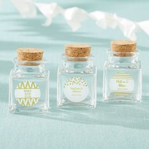 Petite Treat Square Glass Favor Jar - Gold Foil (Set of 12)  - $24.99