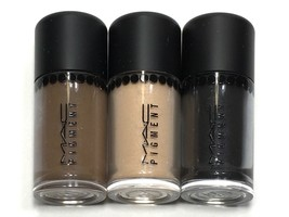 3pc MAC Mini Pigment Eyeshadow Lithe,Deep Brown, Dark Soul (Charm Size) - $18.99