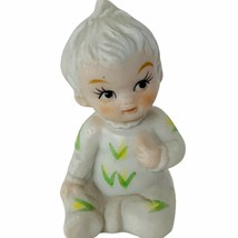 Bisque Japan porcelain figurine baby babies miniature vtg antique decor ... - $17.77