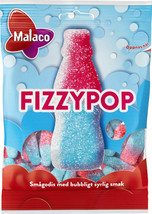Malaco Fizzy PopSour Taste Candy 4 packs of 80g / 11.28oz - $19.80