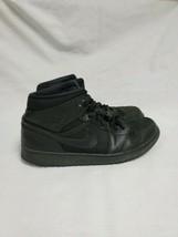 Nike Air Jordan 1 Retro Mid Men's Size 13 Triple Black on Black 554724-011 READ - $87.52