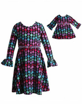 Dollie Me Girl 6-14 and Doll Matching Floral A Line Dress Clothes Americ... - $29.99