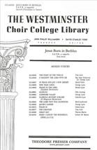 Jesus Born In Bethlea (Piano Reduction/Vocal Sc... - $1.50