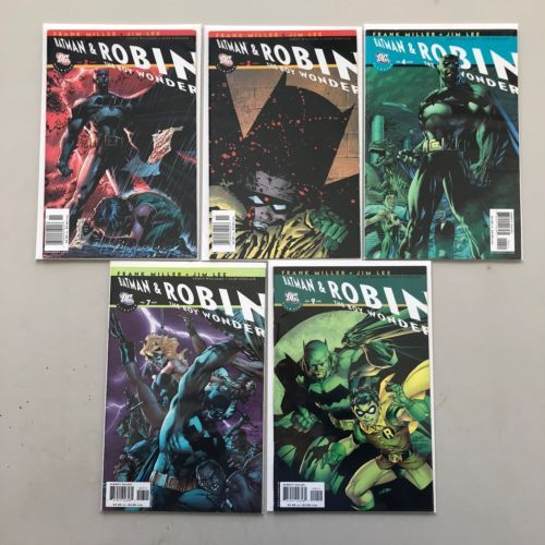 Lot of 5 All Star Batman and Robin the Boy Wonder #2 4 7 9 Variants VF Very Fine