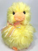 "TY Classic Duck Cooper Yellow Plush Chick 2004 Stuffed Animal Orange Bow 9"" - $24.99"