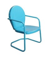 LB International Retro Style 34 Inch Outdoor Metal Tulip Chair, Turquois... - $63.10