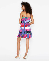 Express Women's  Striped Ruffle Wrap Cami Dress XSmall   image 2