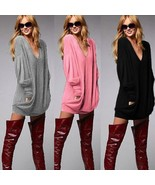 Women's Autumn Winter Long Sleeve Knitted Sweaters Pullover Sexy V Neck ... - $25.62+