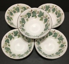 """NIIKO Casual Living Tableware Set of 5 Cereal Bowls Green Ivy 6-1/8"""" PD19 - $24.95"""