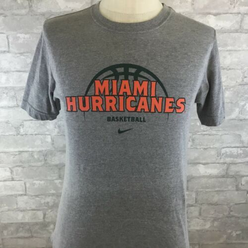 Primary image for NIKE UNIVERSITY OF MIAMI HURRICANES BASKETBALL GRAY SMALL T-SHIRT