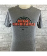 NIKE UNIVERSITY OF MIAMI HURRICANES BASKETBALL GRAY SMALL T-SHIRT  - $19.18