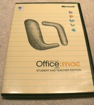Microsoft Office Mac 2004 Student And Teacher Edition With 3 Keys And Booklet - $15.99