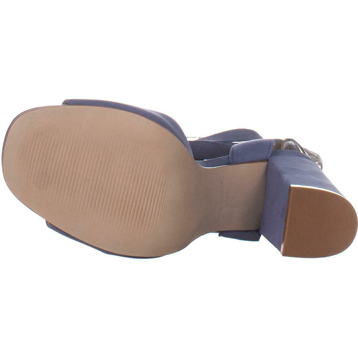 Steve Madden Kenny Ankle Strap Sandals, Blue Nubuck, 6.5 US image 6