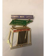 Country Music Capital Nashville  /steel Guitar Pin. - $9.50