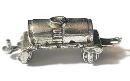 TANKER TRAIN FINE PEWTER  FIGURINE - Approx. 1 1/4 inches Long (T170) image 3